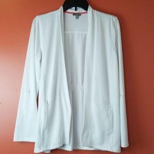 Talbots white open front cardigan size medium